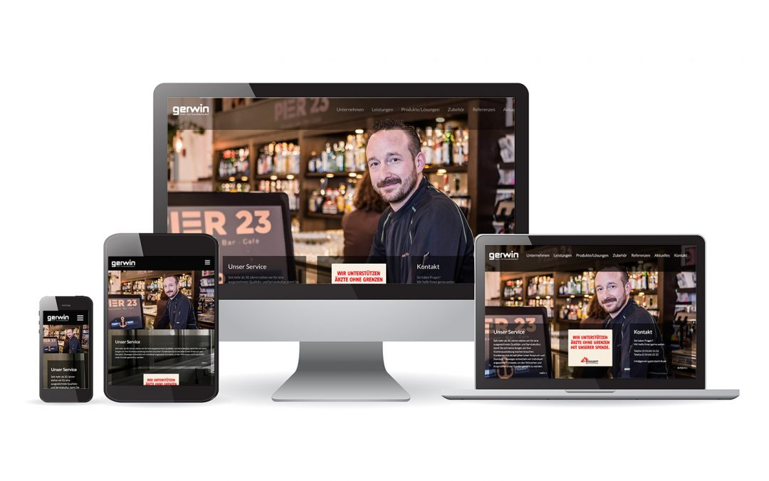 team4media gestaltet die Webseite für Gerwin Hotel- und Gaststättenbedarf