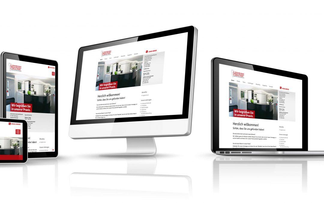 Neue Webseite für Praxis Dr. Obermeyer & Tholen von team4media
