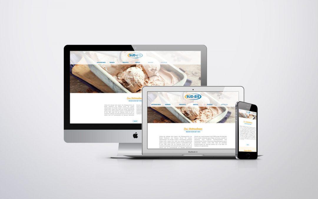 Frische TYPO3-Webseite für die Süd-Eis GmbH & Co KG