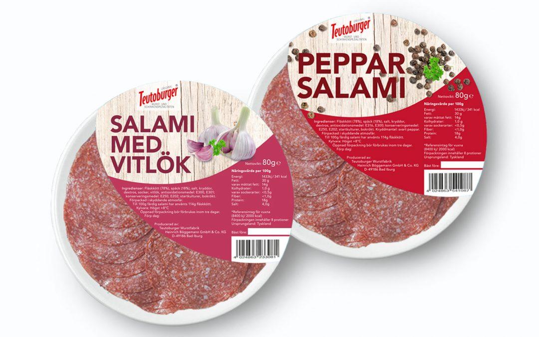 Neue Etiketten für Teutoburger-Wurst