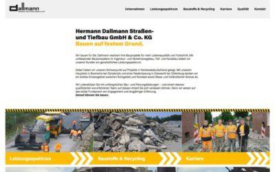 Neue Webseite mit integrierter Karriereseite für Dallmann Bau