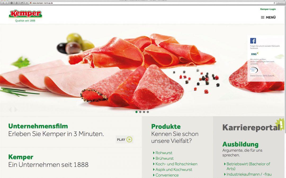 Kemper – neue Webseite