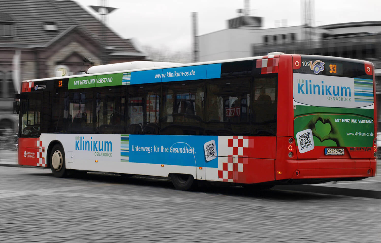 Buswerbung vom Klinikum Osnabrück
