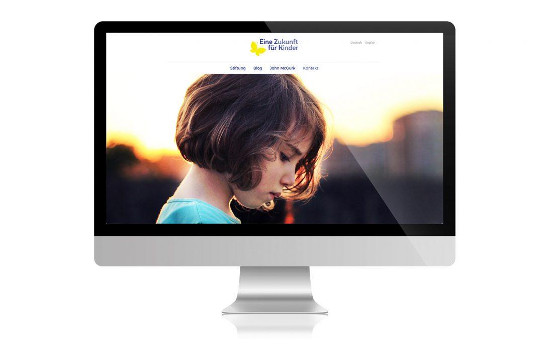 Webdesign für die Stiftung Eine Zukunft für Kinder von team4media