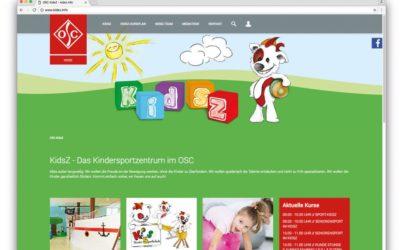 Kidsz-Webseite im neuen Design