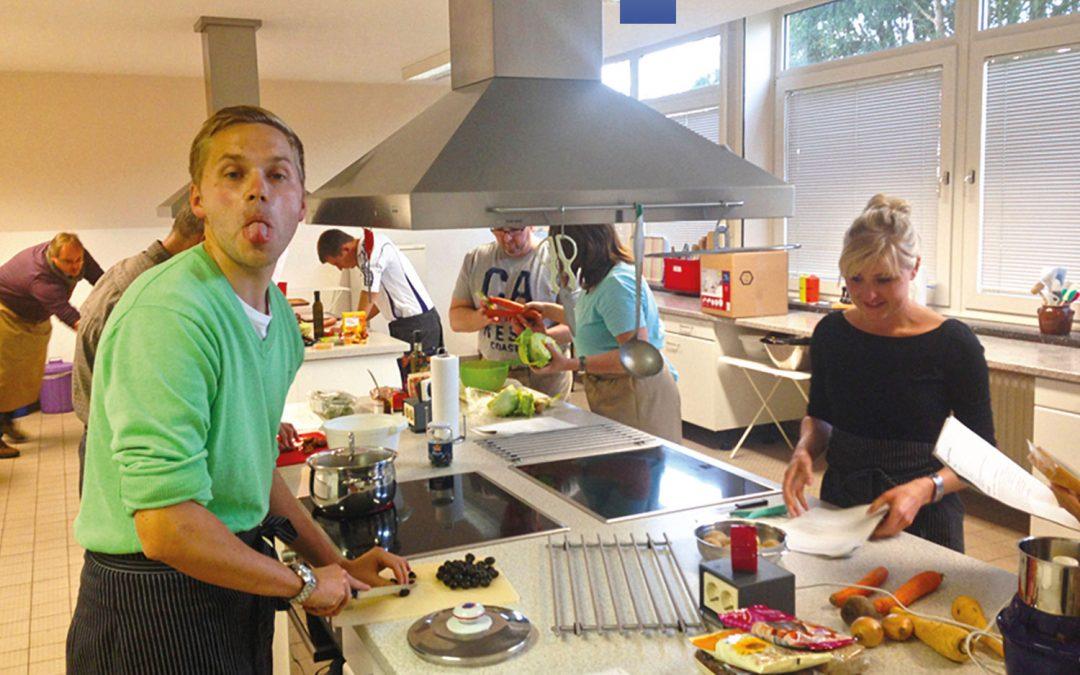 Das Team beim gemeinsamen Kochkurs