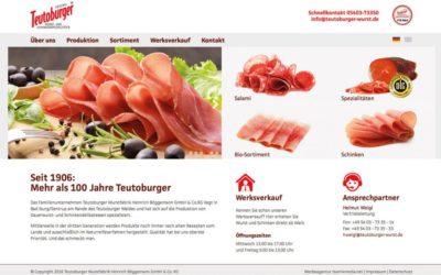 Teutoburger-Wurst mit neuem Design