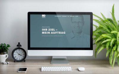 Übersichtliche WordPress-Website für Dreimann Consulting
