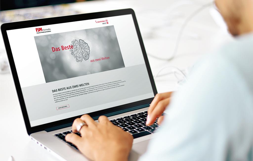 TYPO3-Website für FSM Premedia