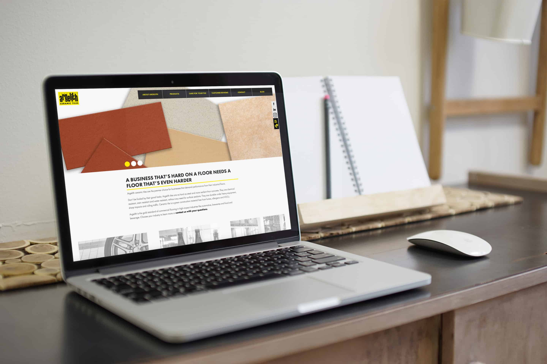 Referenz Website Argelith Laptop Screen