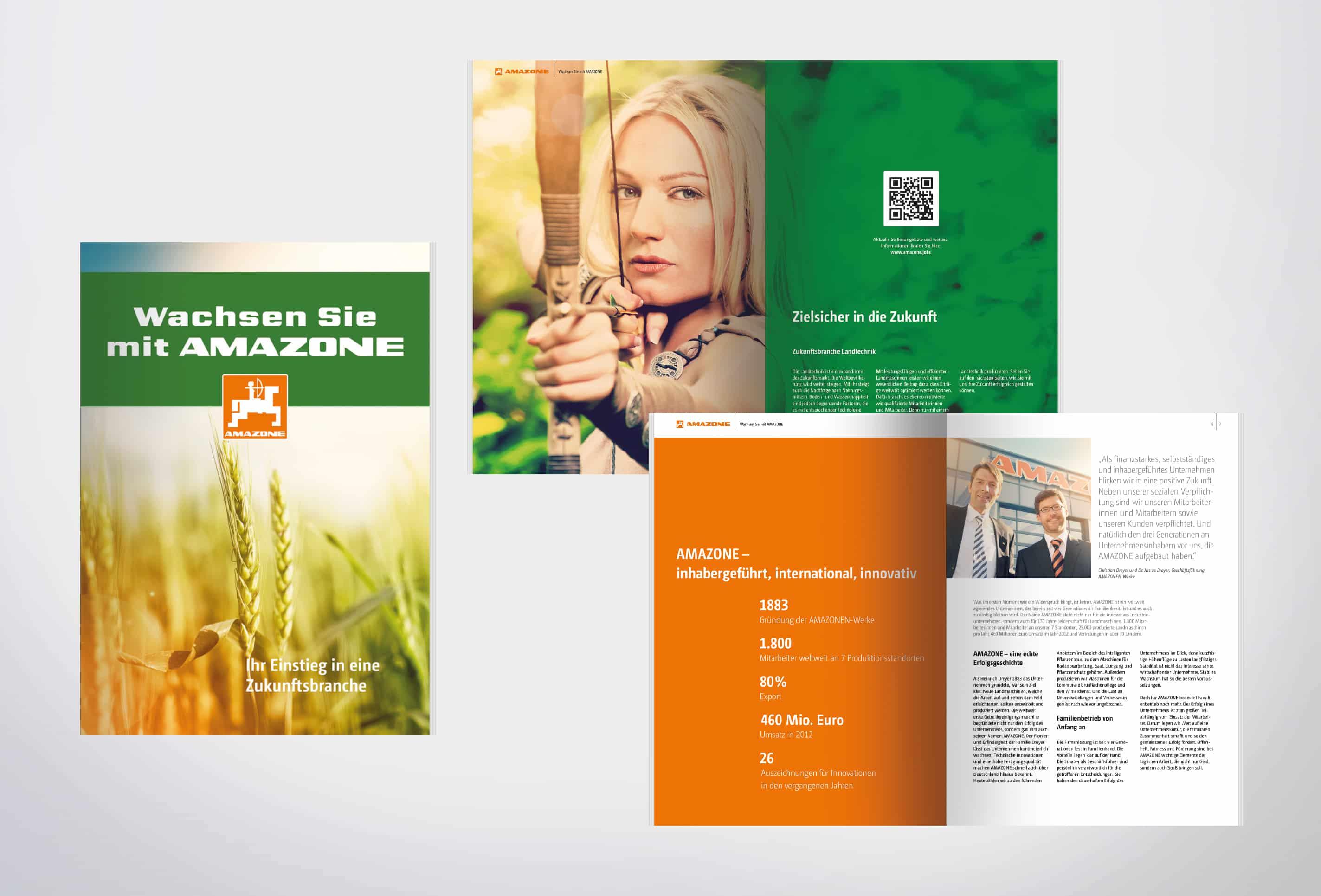 Personalmarketing Amazone gestaltet von team4media - Ihre Werbeagentur aus Osnabrück