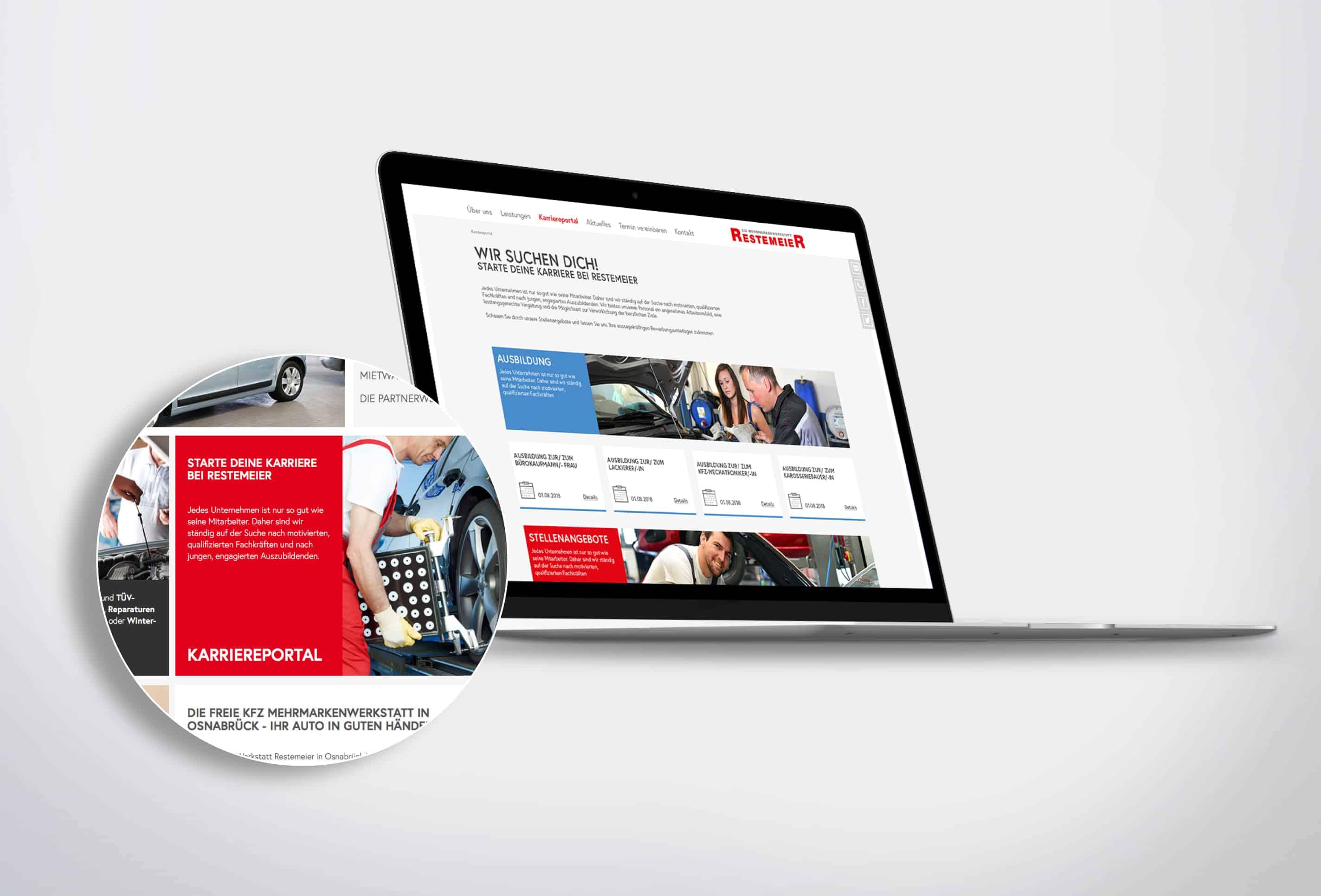 Personalmarketing Restemeier gestaltet von team4media - Ihre Werbeagentur aus Osnabrück