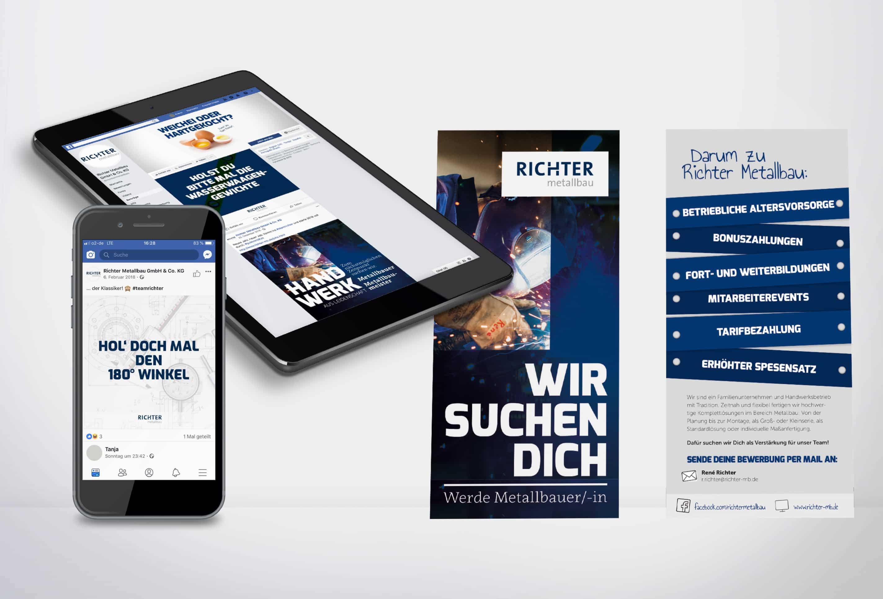 Personalmarketing Richter Metallbau gestaltet von team4media - Ihre Werbeagentur aus Osnabrück