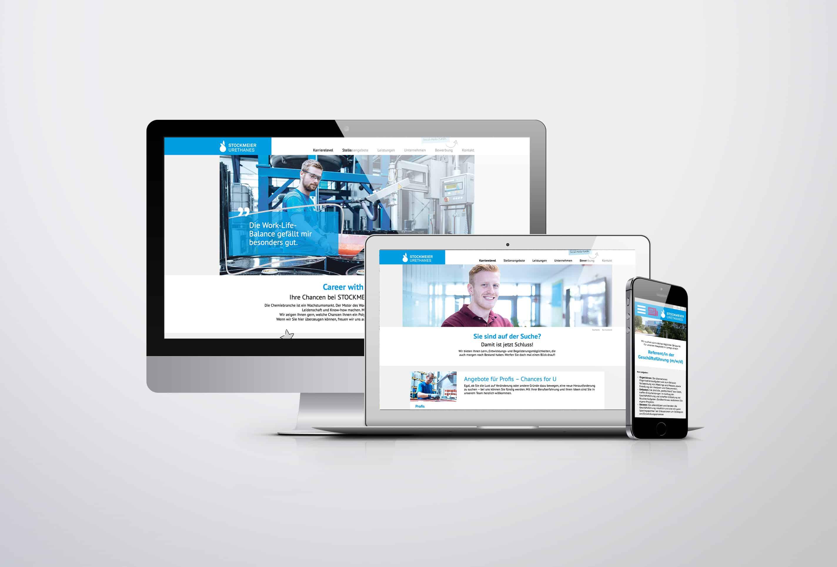Referenz Website Stockmeier Karriere responsive Darstellung