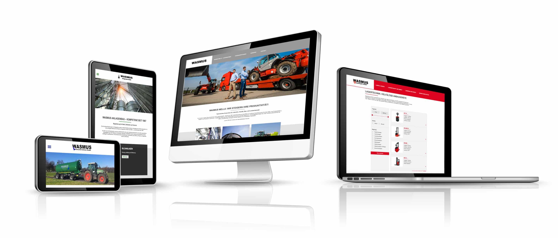Website Wasmus gestaltet von team4media - Ihre Werbeagentur aus Osnabrück