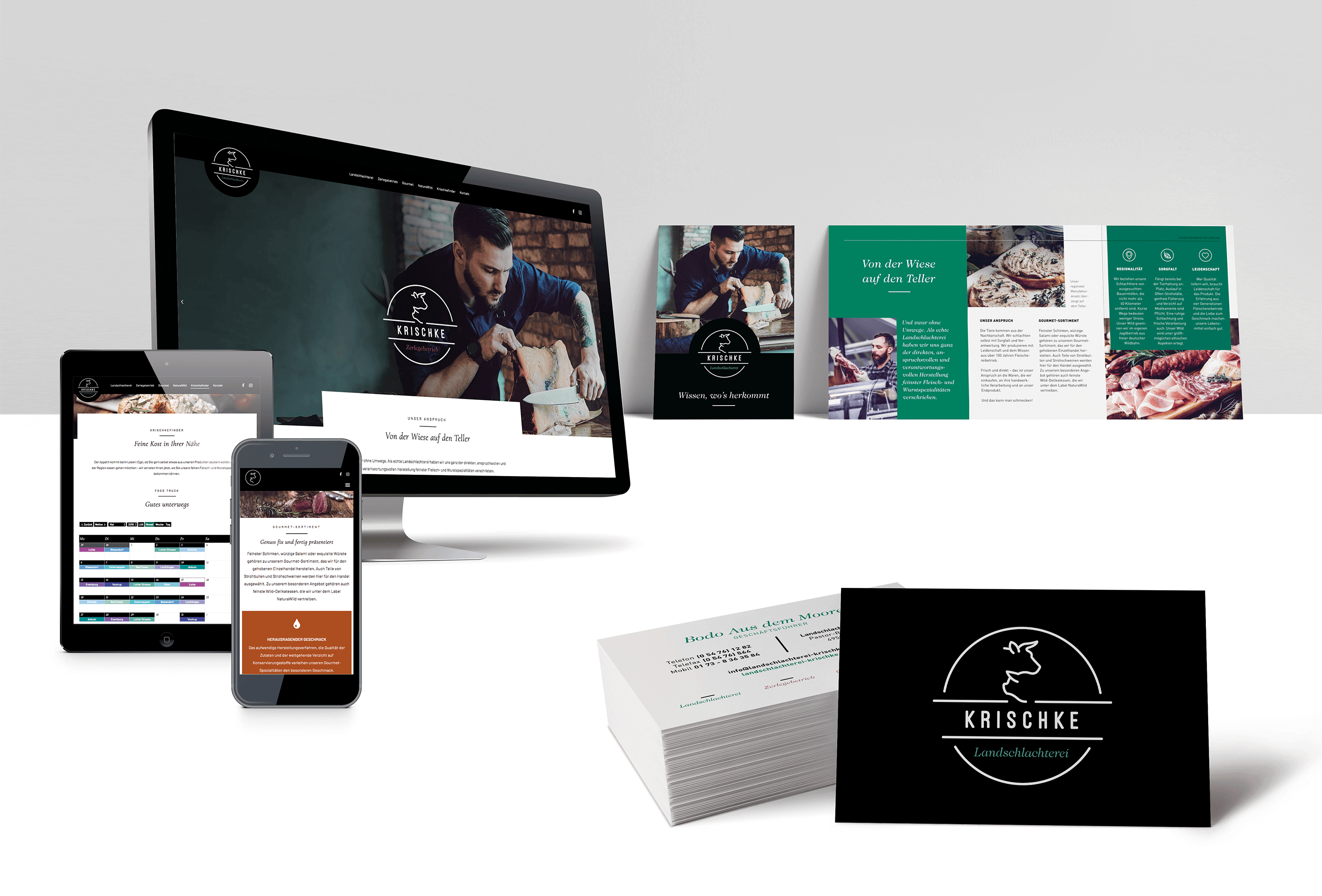 Referenz Krischke Corporate Design Mockup