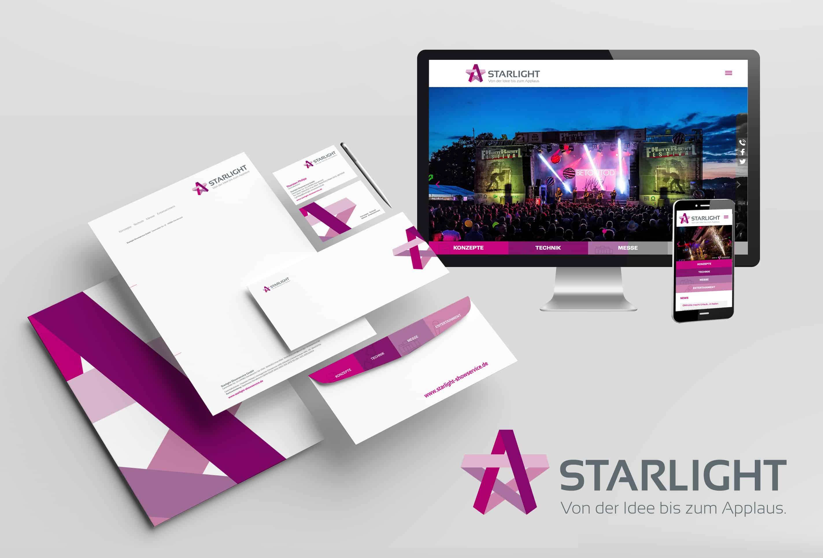 Referenz Starlight Corporate Design