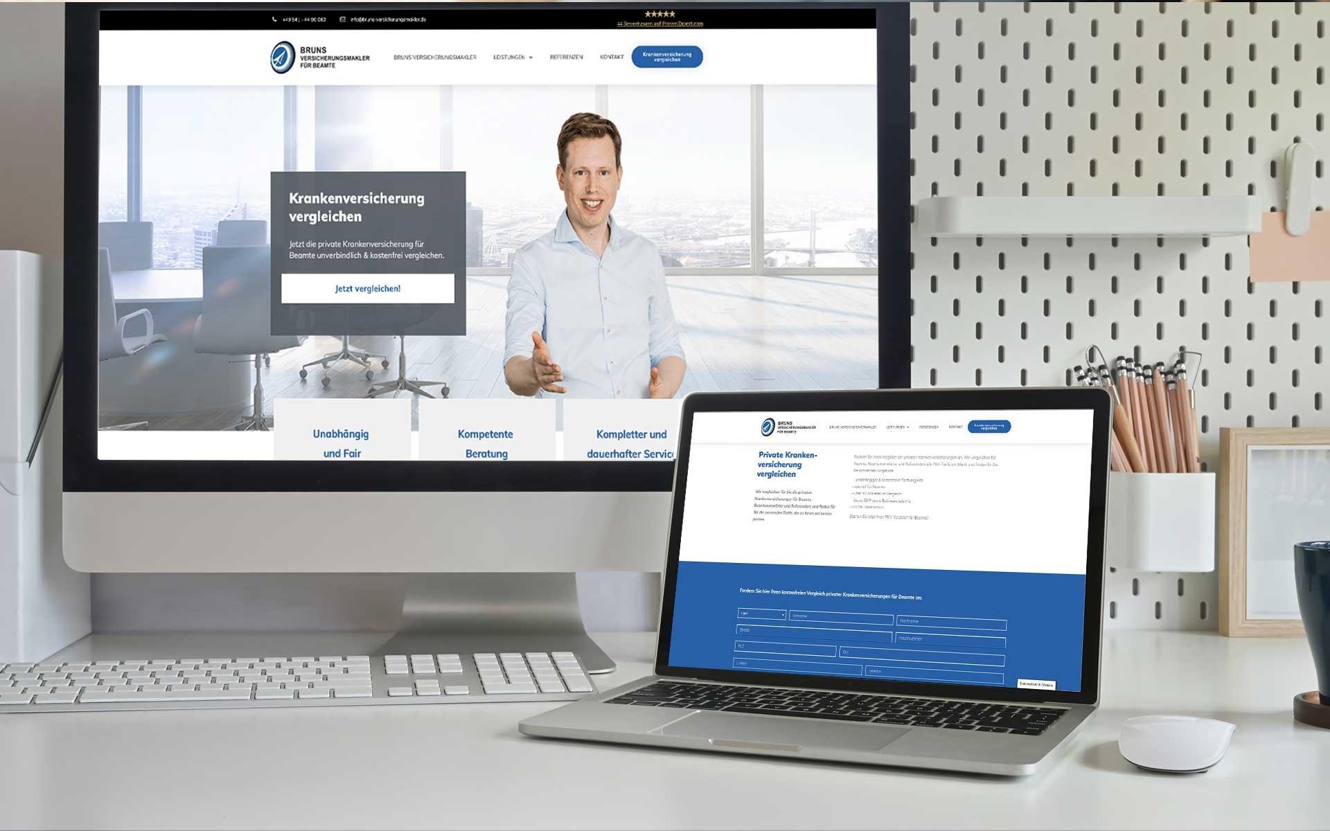 Bruns Versicherung gestaltet von team4media - Ihre Werbeagentur in Osnabrück