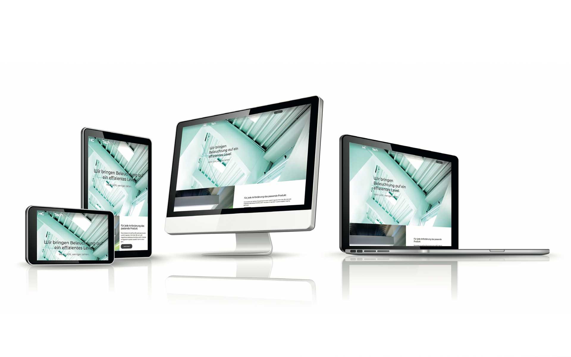 Webseite Mockup HC InnoTech