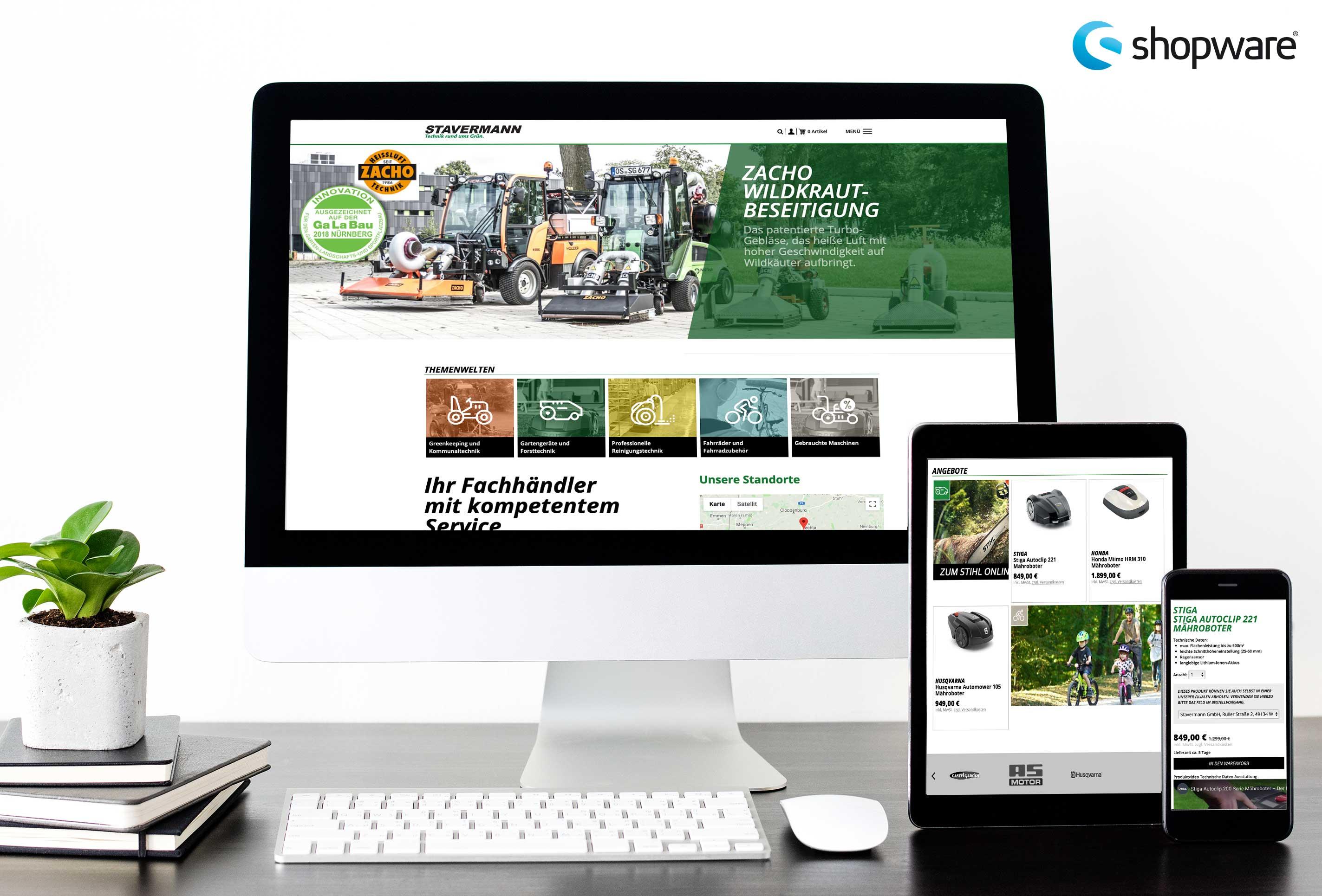 Stavermann-Webshop von team4media - ihre Werbeagentur in Osnabrück