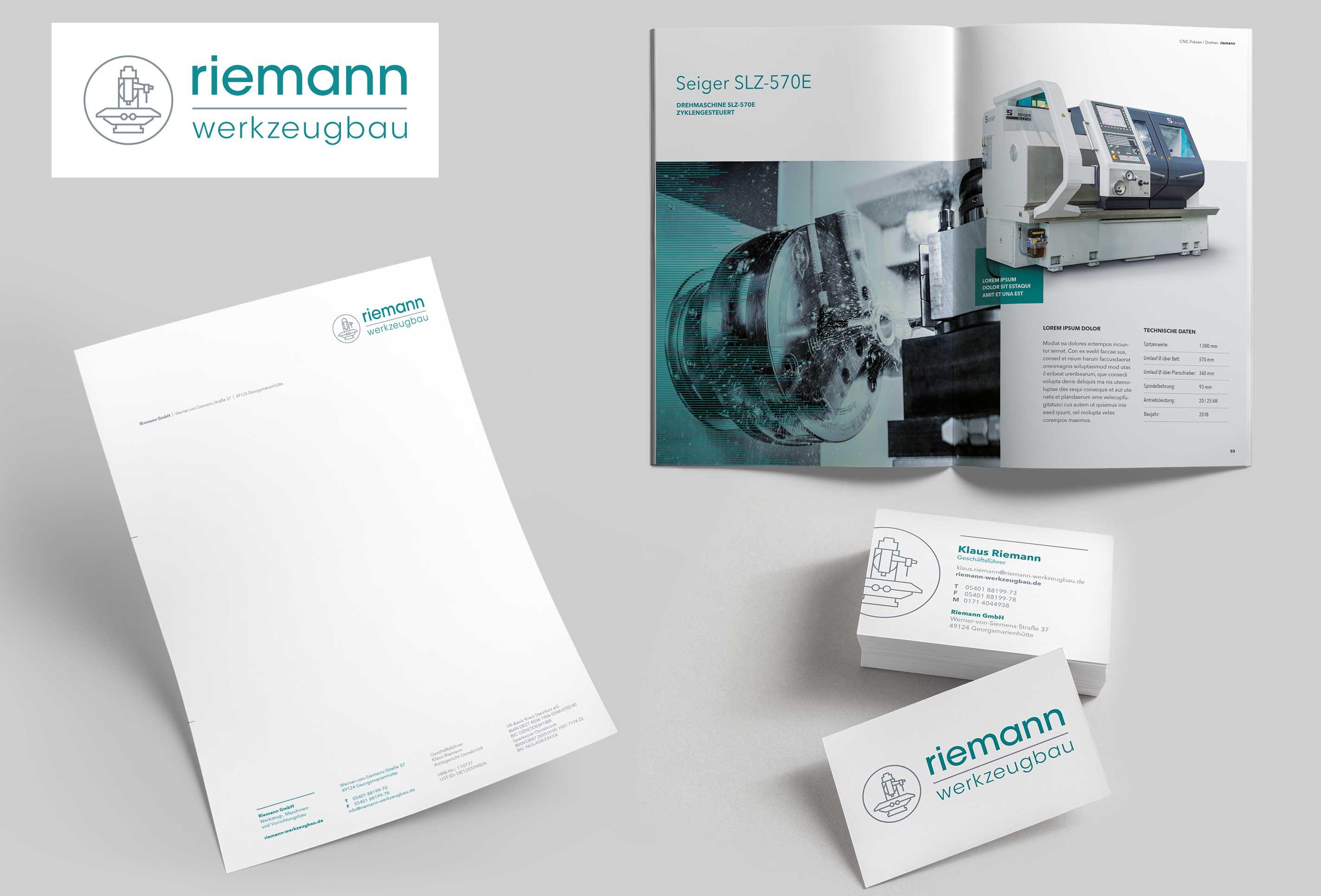 Riemann Werkzeugbau gestaltet von team4media - Ihre Werbeagentur in Osnabrück