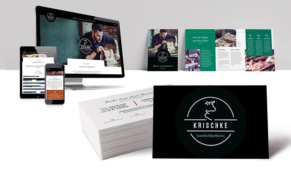 Corporate Design Landschlachterei Krischke von team4media Ihre Werbeagentur in Osnabrück