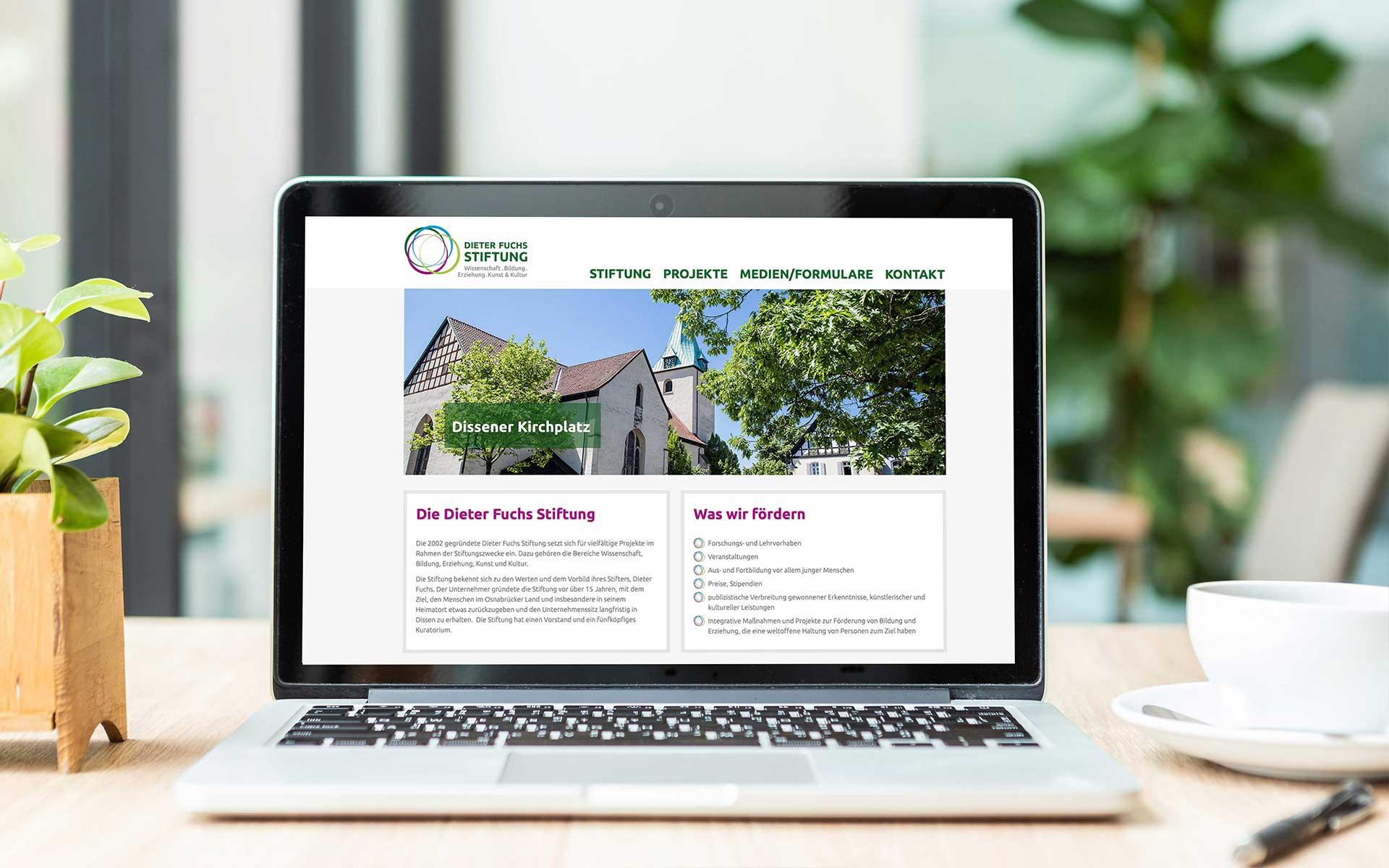 Dieter Fuchs Stiftung online von team4media - Ihre Werbeagentur aus Osnabrück