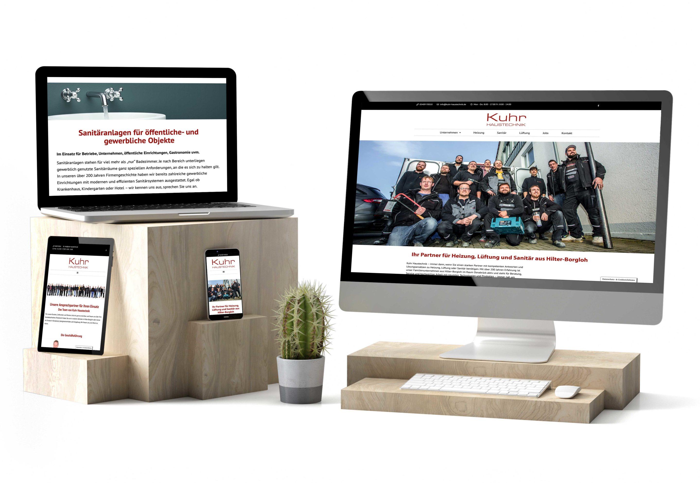 Neue Website für Kuhr Haustechnik