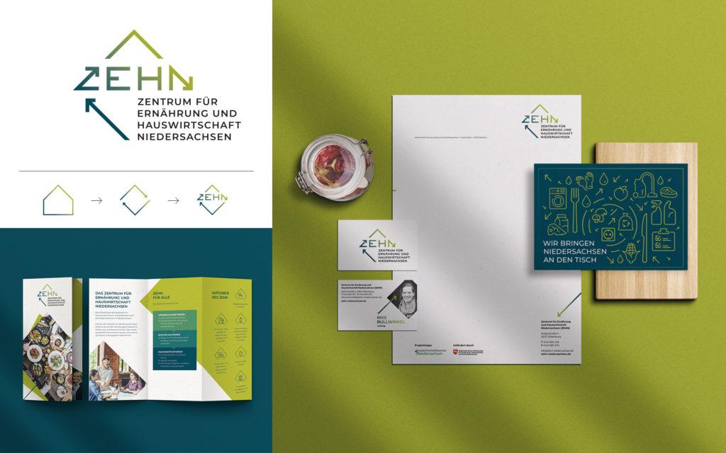 Corporate Design ZEHN Zentrum für Ernährung und Hauswirtschaft