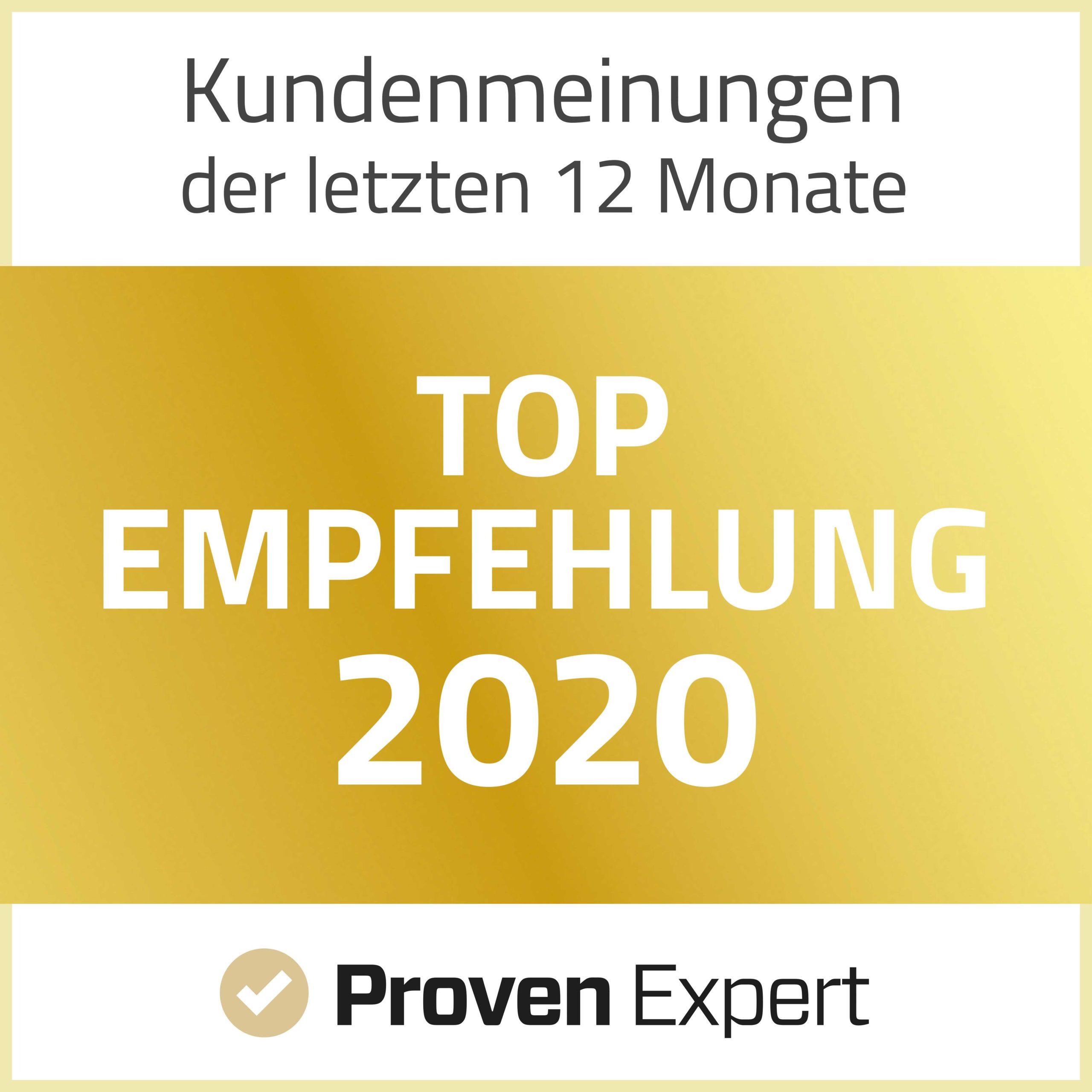 Top Empfehlung Proven Expert.