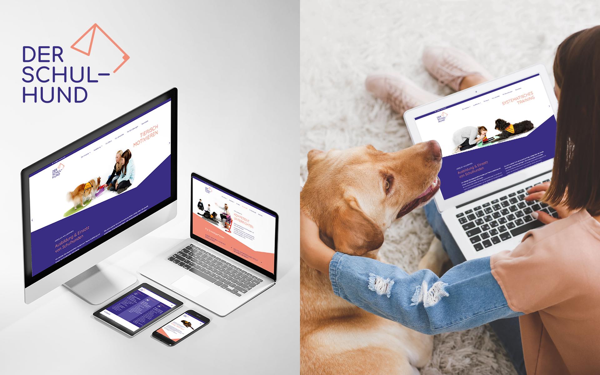 Website für den Arbeitskreis der Schulhund