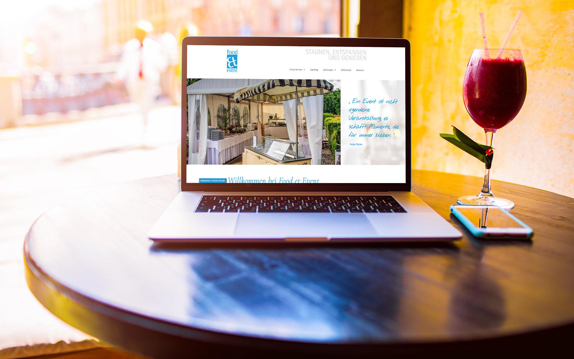 Webdesign für Food et Event