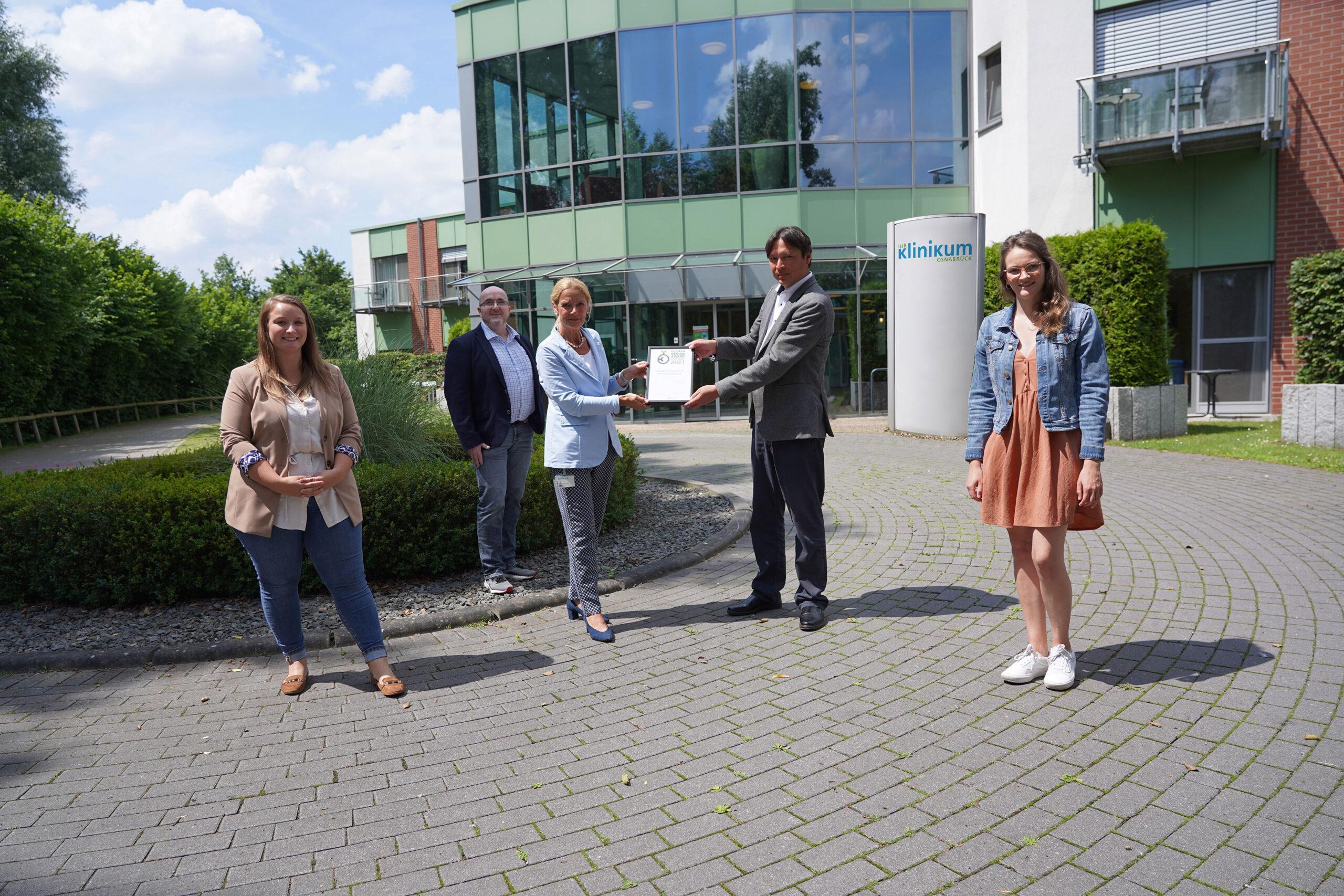team4media erhält German Design Award 2021 für den Websiterelaunch des Klinikum Osnabrück