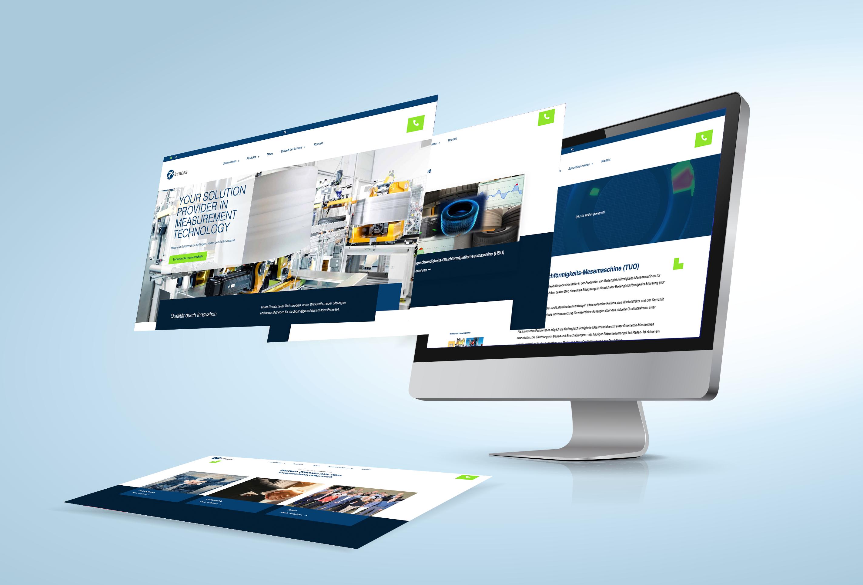 Webdesign für inmess von team4media