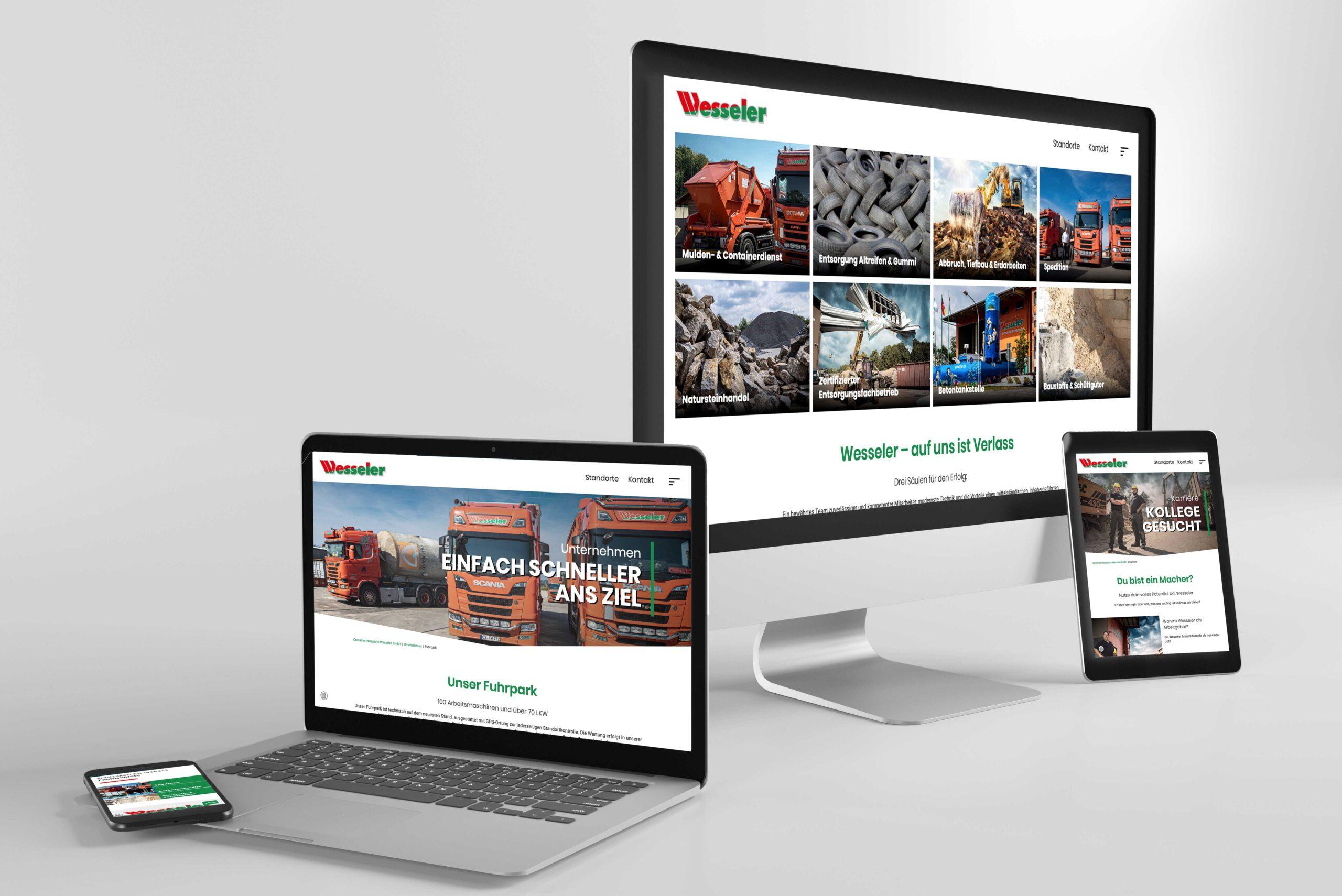 Webdesign Wesseler von team4media