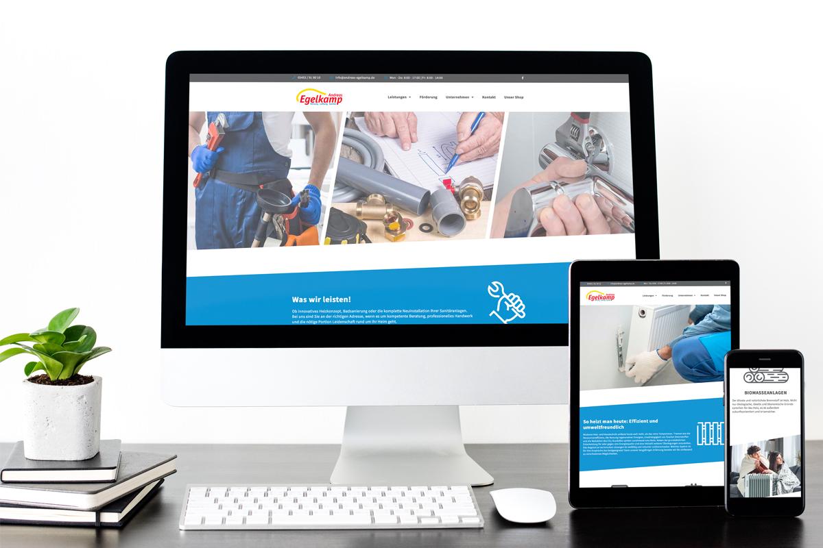 Darstellung des neuen Webdesigns von Egelkamp