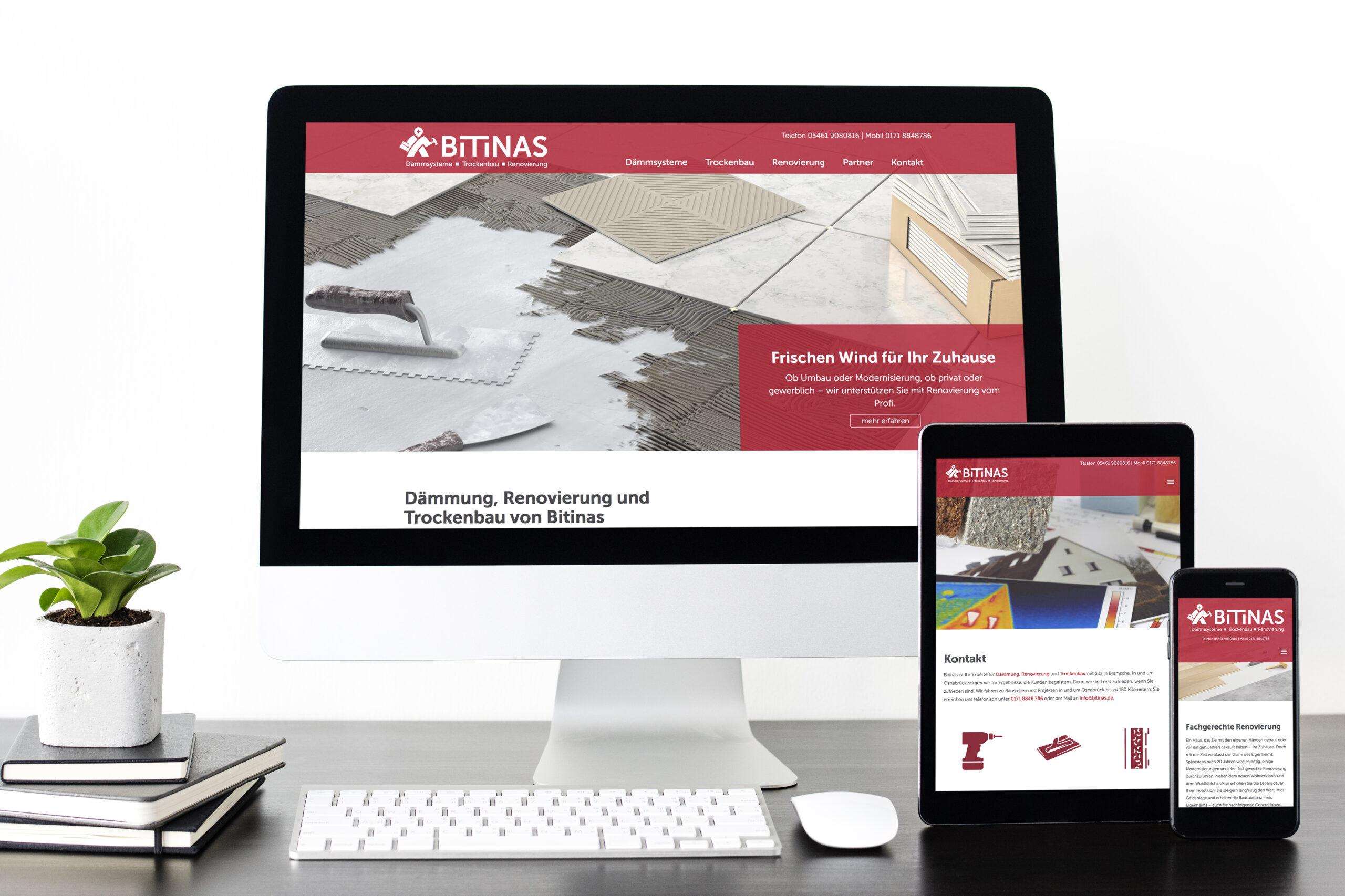 Neue Geschäftsausstattung für Handwerksunternehmen Bitinas