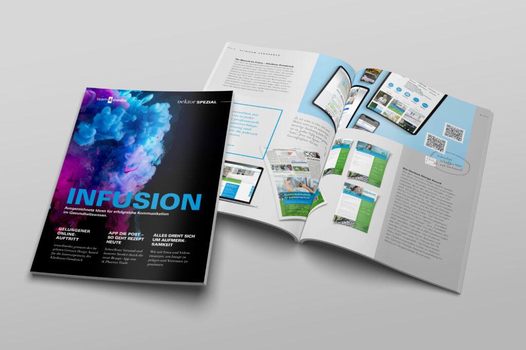 Unternehmensmagazin team4media Infusion - erfolgreiche Kommunikation im Gesundheitswesen