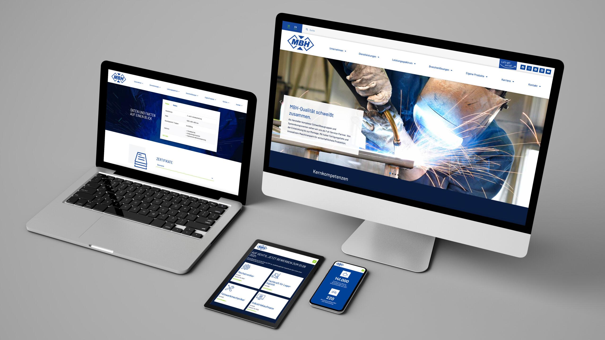 team4media gestaltet Websiterelaunch von MBH aus Ibbenbüren