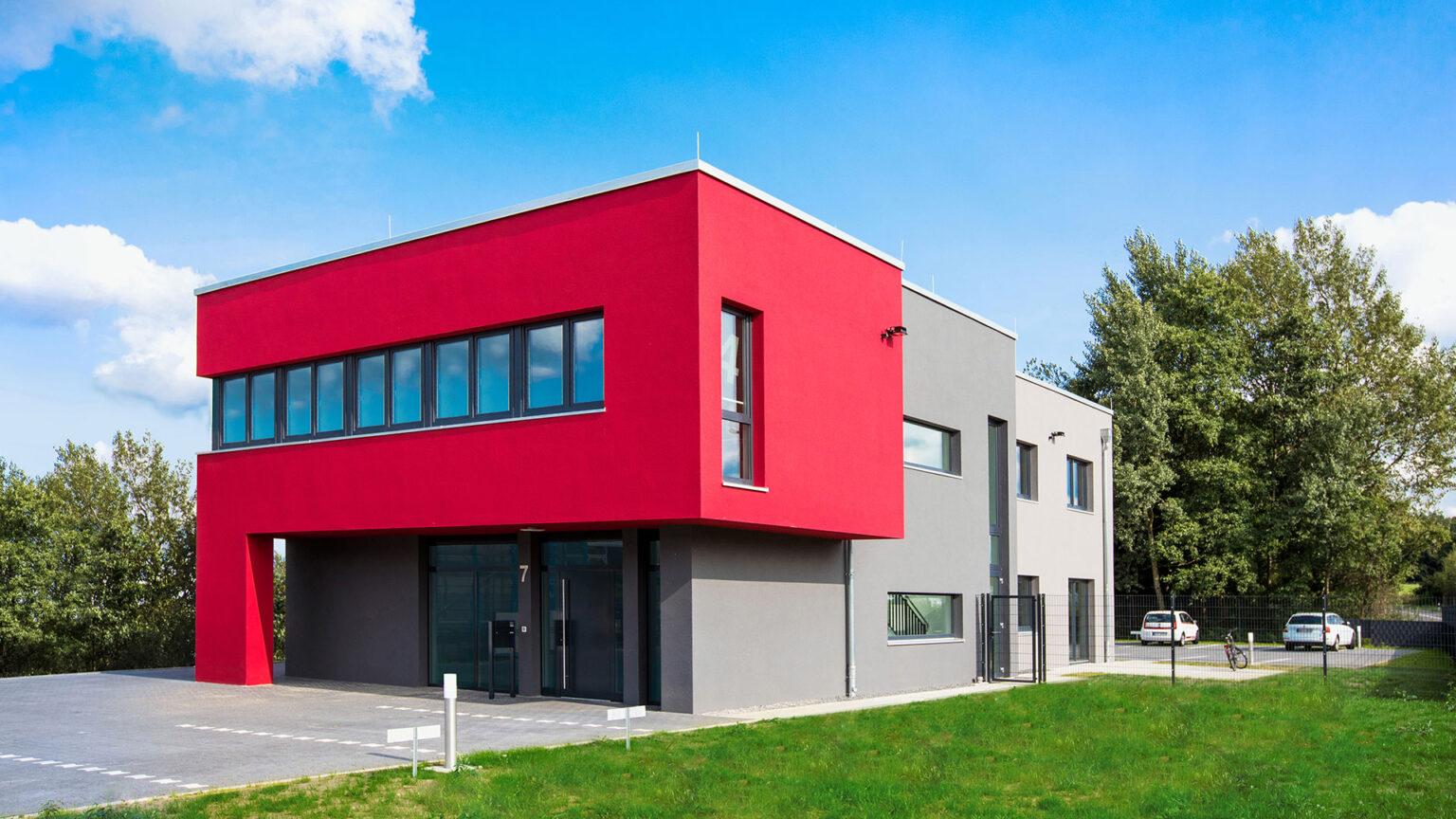 Gebäudeansicht Osnabrücker Werbeagentur team4media an der Lengericher Landstraße 7