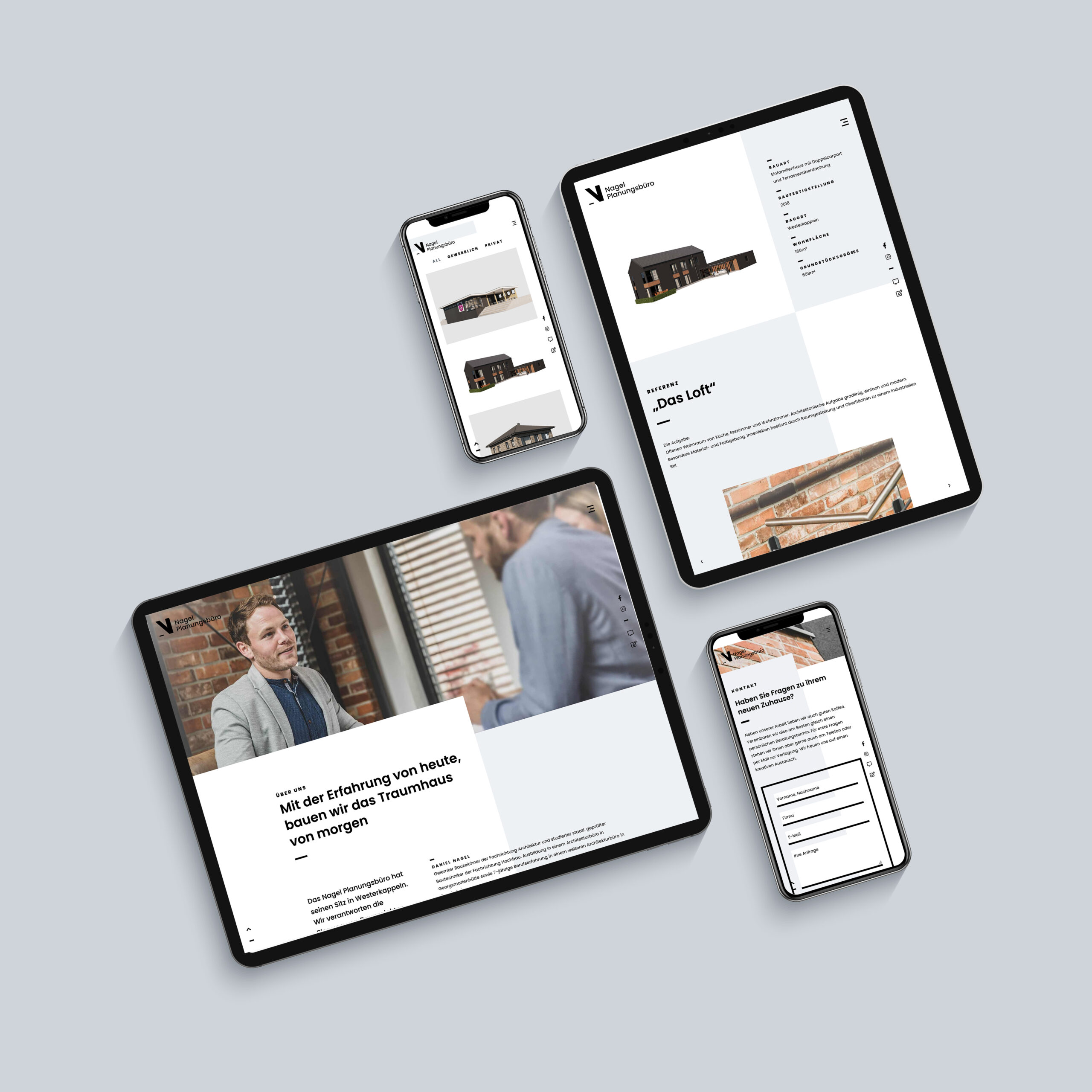 Webdesign für Planungsbüro Nagel von team4media